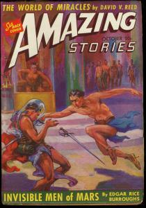 AMAZING STORIES 1941 OCT-JOHN CARTER OF MARS PULPS VF