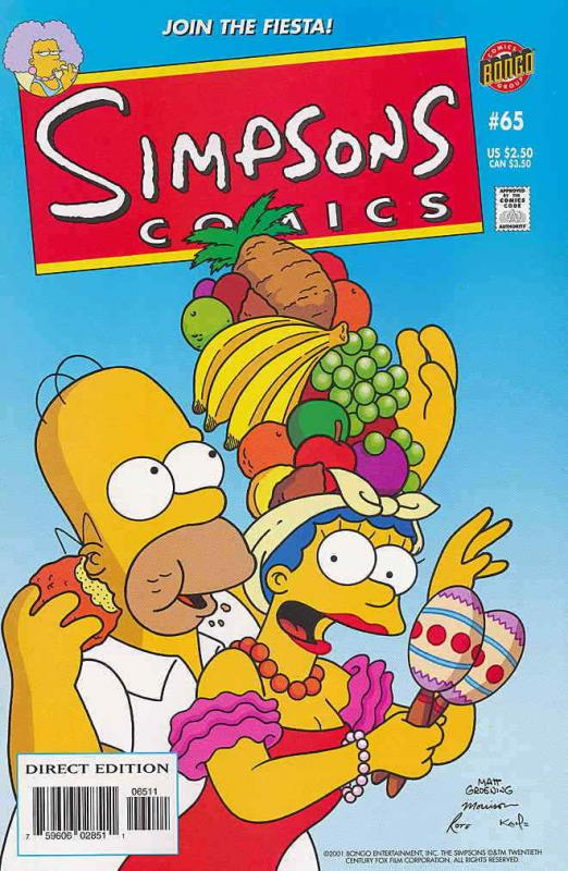 Simpsons Comics #65 FN; Bongo | save on shipping - details inside