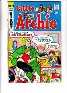 Little Archie #70 (May-72) FN- Mid-Grade Little Archie, Little Veronica, Litt...