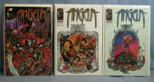 Three Issues Of ANGELA (Image Comics 1995) With RARE Promo Variant L@@K