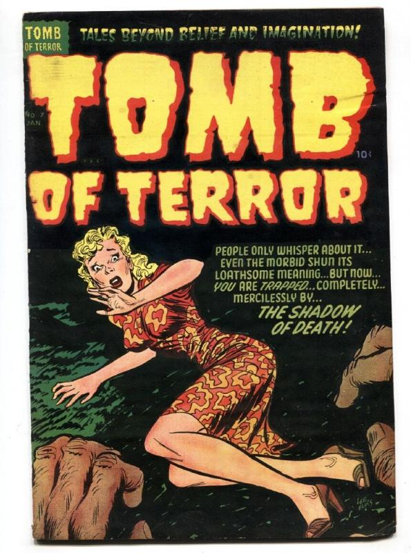 TOMB OF TERROR  #7 1953-HARVEY GGA cover-Sick torture panels-HORROR-vg