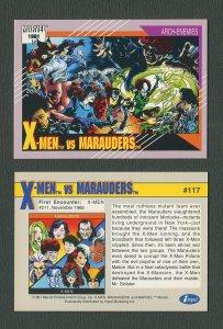 1991 Marvel Comics II  Card  #117 ( X-Men vs Marauders )  MINT