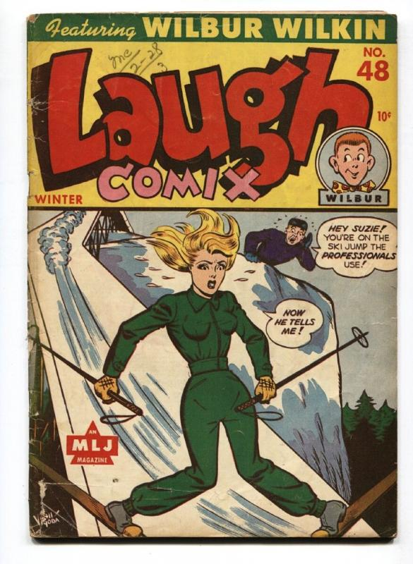 Laugh Comix #48-Headlight cover-Last issue-RARE Golden-Age comic book