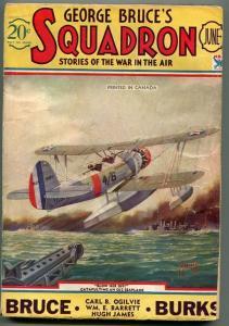GEORGE BRUCE'S SQUADRON 06/1934-WWI-TINSLEY-OJ2 SEAPLANE-LAST ISSUE-CANADIAN-vg