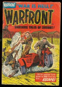 WARFRONT #20 1954-LEE ELIAS MOTORCYCLE COVER-POW G/VG