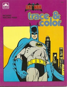 BATMAN TRACE & COLOR (Golden Book, Western Pub.) Mint. Unmarked w/tracing tissue