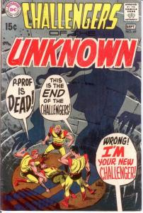 CHALLENGERS OF THE UNKNOWN 69 F+ Sept. 1969 COMICS BOOK