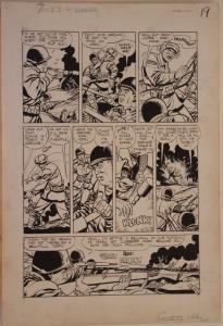 MORRIS MOE MARCUS / ROCCO MASTROSERIO original art, EXCITING WAR #5 pg 21, 1952
