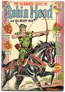 Robin Hood and His Merry Men #34 1957- Chalrton Comics- VG