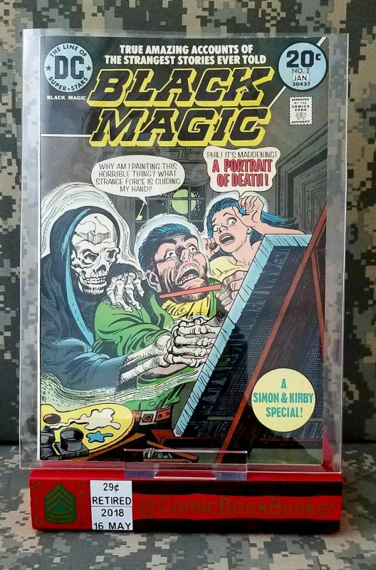 BLACK MAGIC #2 VF/NM DC Comics Horror VINTAGE Joe Simon Jack Kirby Bronze Age