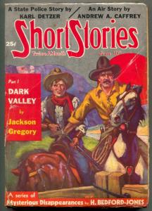 Short Stories Pulp June 10 1937- Dark Valley- Karl Detzer VG-