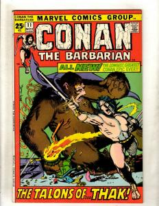 Conan The Barbarian # 11 VG/FN Marvel Comic Book Barry Windsor Smith Art NE1