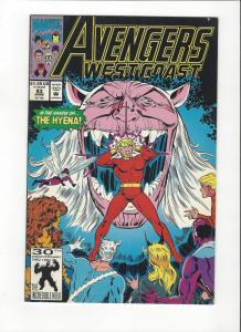 Avengers West Coast #83 Vs. The Hyena NM
