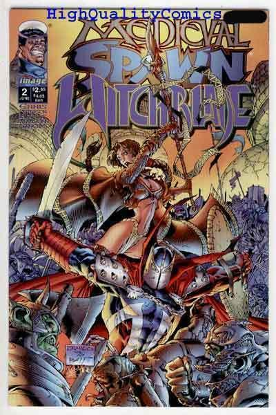 MEDIEVAL SPAWN / WITCHBLADE #2, NM, Garth Ennis, Weems, 1996,more Image in store