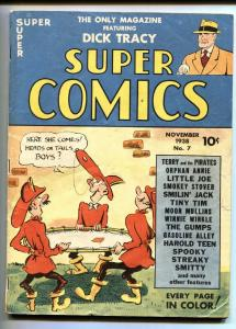 Super Comics #7 1939- 3rd Smokey Stover cover- Dick Tracy FN+