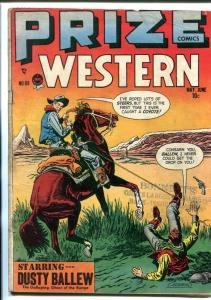 PRIZE COMICS WESTERN #69-1948-LAZO KID-DUSTY BALLEW-DICK BRIEFER-vg