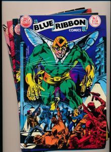 Red Circle Comics Group SET OF  BLUE RIBBON Comics #1-4 VERY FINE (PF108)