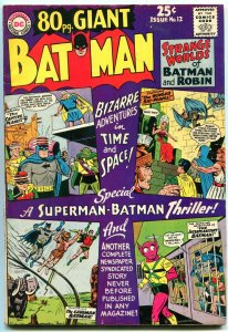 80 PAGE GIANT #12 1965 DC BATMAN NEWSPAPER COMIC STRIP FN/VF