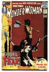 Wonder Woman #199 1972- Jeff Jones horror cover- DC bondage cover