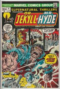 Supernatural Thrillers #4 (Jun-73) VF+ High-Grade Dr. Jekyll, Mr. Hyde