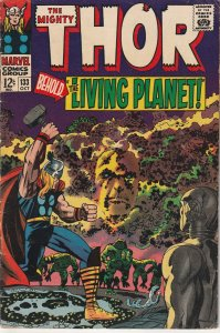 Thor(vol. 1)#133  1xt appearance of Ego The Living Planet !