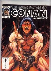 Savage Sword of Conan #159 (Apr-89) NM- High-Grade Conan