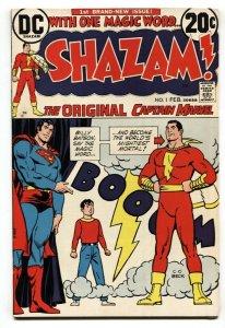 SHAZAM #1-1973-DC-CAPT MARVEL SUPERMAN-FN/VF