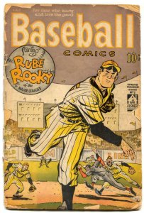 Baseball Comics #1 1949- WILL EISNER ART- Golden Age POOR