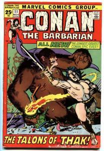 CONAN THE BARBARIAN #11 1971-MARVEL COMICS VG/FN.