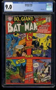 Batman #193 CGC VF/NM 9.0 Off White to White 80 Page Giant!