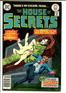HOUSE OF SECRETS #144-1977-DC-HORROR-VAMPIRES-COFFIN FN/VF