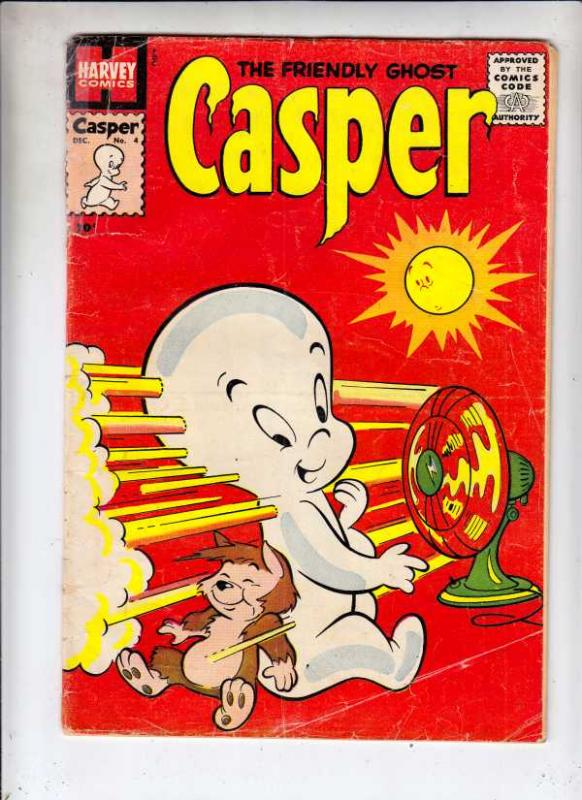 Casper, the Friendly Ghost Casper #4 (Dec-58) VG Affordable-Grade Casper, Spo...