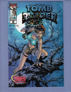 Tomb Raider #2 VF/NM Tower Records Gold Variant Cover Top Cow 2000