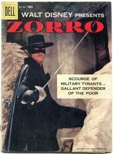 Four Color Comics #882 1958- Zorro- 1st issue- Dell Comics G