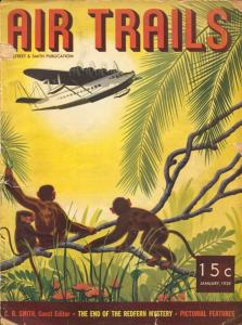 Air Trails 1/1939-Monkey cover-Bill Barnes-hero pulp-FR