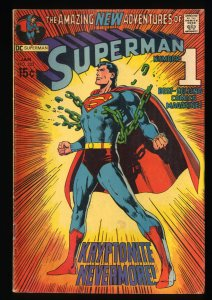 Superman #233 VG- 3.5 Neal Adams Cover!