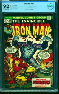 Iron Man #56 CBCS NM- 9.2 Off White to White Marvel Comics