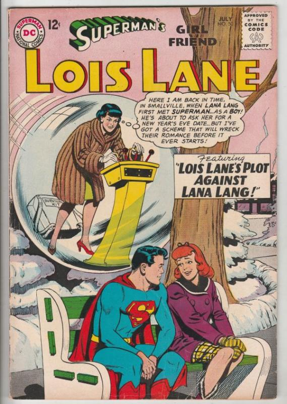 Superman's Girlfriend Lois Lane #50 (Jul-64) FN+ Mid-High-Grade Superman, Loi...