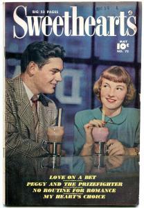 Sweethearts #75 1949- Golden Age Fawcett Romance- Ice Cream cover FN-