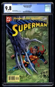 Superman (1987) #207 CGC NM/M 9.8 White Pages