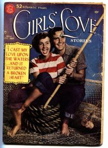 Girls' Love Stories #6 1950-DC romance-outstanding art-rare-photo cover