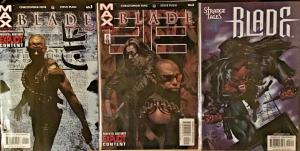 BLADE 1-2 VOL.2 (2002)MARVEL MAX NM BLADE VOL.1 #3 (1998)NM 3 BOOK LOT
