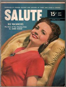 Salute #5  9/1946-Janet Blair-elusive military magazine-cheesecake-VG
