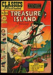 Classics Illustrated #64 HRN 62-TREASURE ISLAND - 1st edition FN-