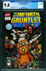 INFINITY GAUNTLET #1 - THANOS CGC 9.8 1991 First issue 2040384005
