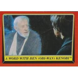 1983 Topps RETURN OF THE JEDI - A WORD WITH BEN (OBI-WAN) KENOBI # 59