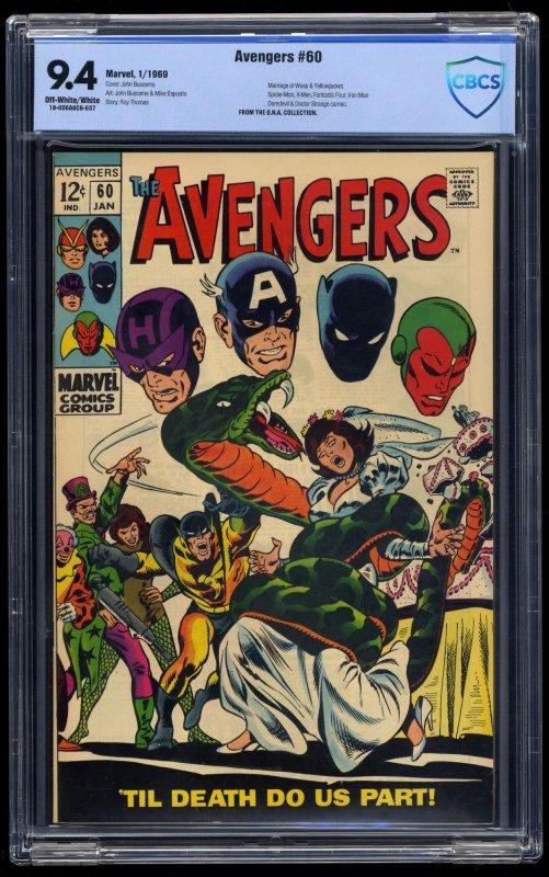 Avengers #60 CBCS NM 9.4 Off White to White