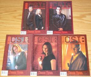 CSI: Crime Scene Investigation - Demon House #1-5 FN/VF complete series collins