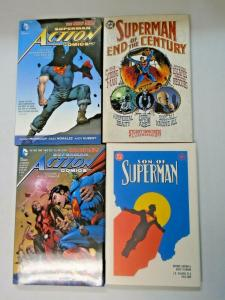 Superman Hardcover lot 4 different books used (years vary)