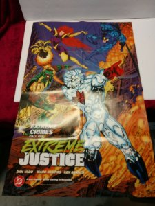 1994 DC Comics EXTREME JUSTICE Folded Promo Poster NEW/UNUSED 22 X 34 HTF!!